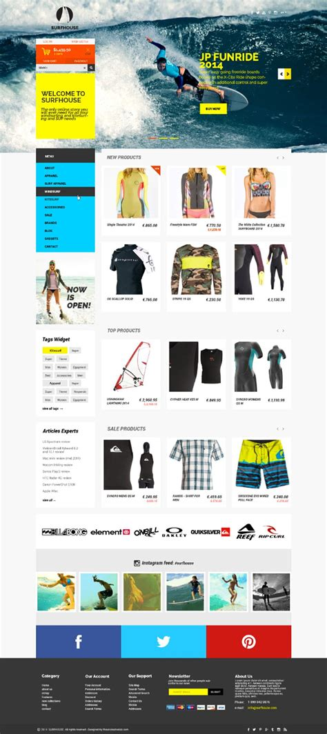 Latest Free Web Page Templates Psd 187 Css Author Free Ecommerce Website Templates