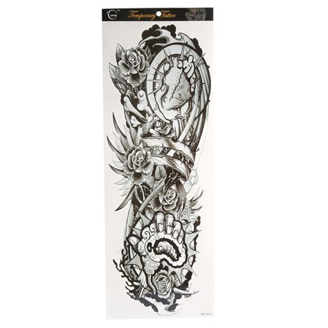 removable tattoo sleeves large arm sleeve temporary stencil sticker