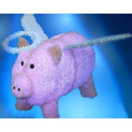 pink christmas pig outdoor decoration 28 quot pre lit led outdoor pink chenille pig outdoor decoration walmart