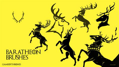 house baratheon house baratheon brushes got font by saracennegative on deviantart