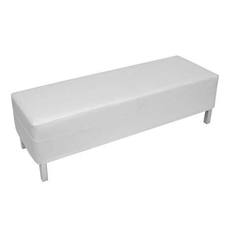 white ottoman bench office furniture hire elite bench ottoman white