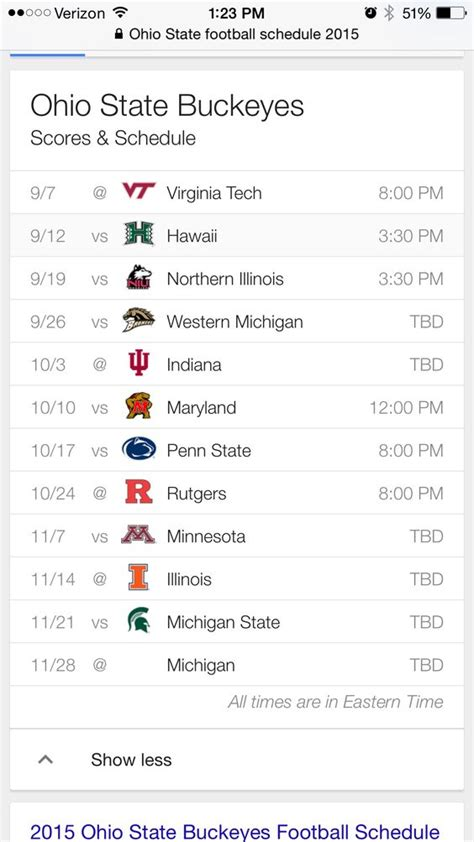 printable schedule ohio state football 2015 ohio state football schedule 2015 ohio state buckeyes