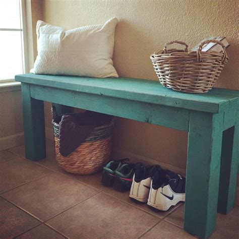 simple  diy entryway bench  custom mixed annie