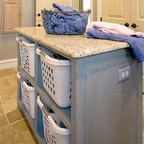 Laundry Folding Table With Storage Laundry Room Folding Table Home Pinterest Laundry Rooms Laundry And Folding Tables