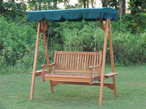 swinging bench canopy swing bench with canopy teak garden furniture