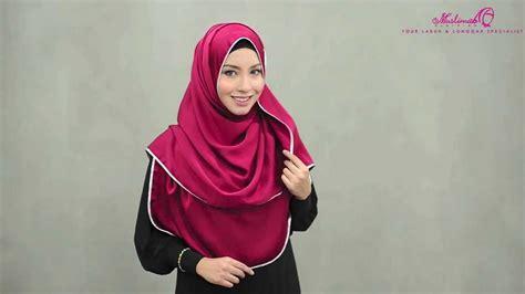 tutorial pashmina muslimah tutorial wide shawl safiyya satin shawl by muslimah