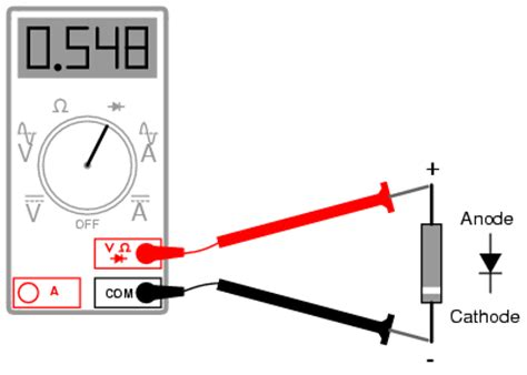 rectifier diode voltage drop meter check of a diode diodes and rectifiers