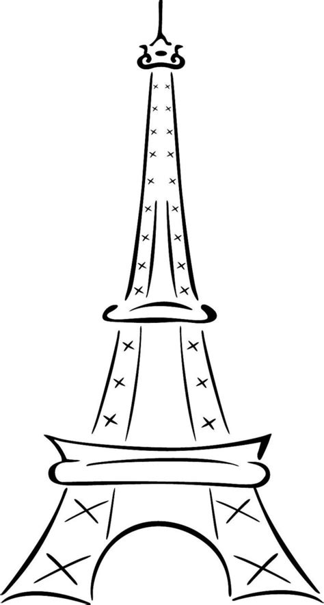 free coloring pages eiffel tower eiffel tower coloring pages bestofcoloring com