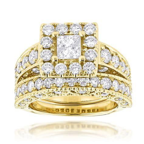 princess cut engagement ring wedding band