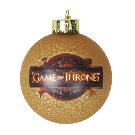 game of thrones tv show logo 3 inch glass ball ornament