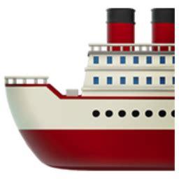 ferry boat emoji ship emoji u 1f6a2