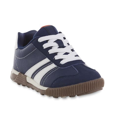basic editions boy s lonnie navy white athletic shoe