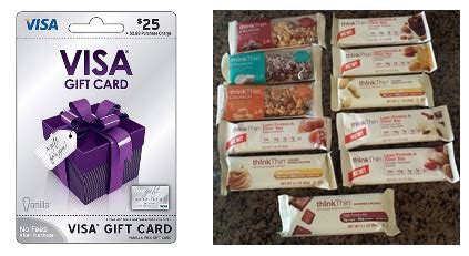 Visa Gift Card Via Email - thinkthin protein bars review and 25 visa gift card giveaway