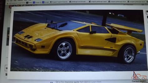 Lamborghini Countach Replica For Sale Uk Lamborghini Countach Replica Kit Car