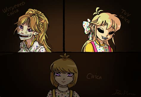 imagenes de fnaf in anime fnaf all chica in anime 2 by drawduverse on deviantart