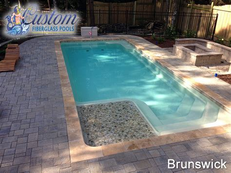 pools with spas brunswick rectangle fiberglass pools and spas