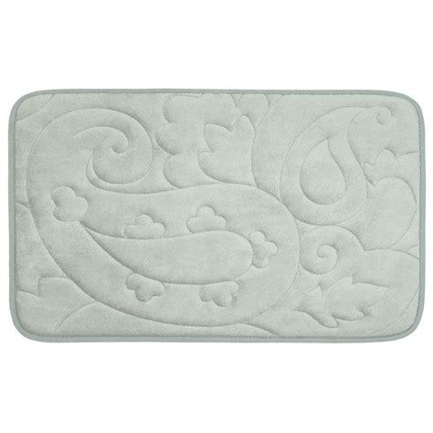 light grey bathroom rugs bouncecomfort pelton light gray 20 in x 32 in memory