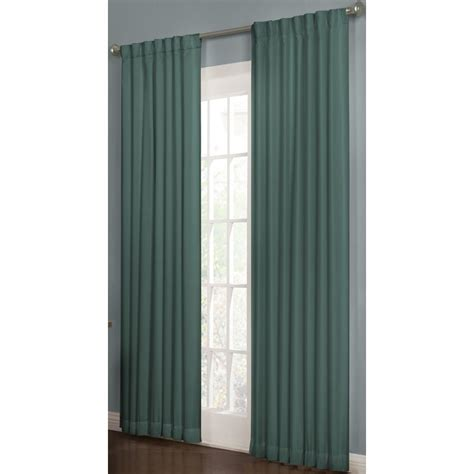 teal window curtains shop allen roth beeston 95 in l solid teal thermal back