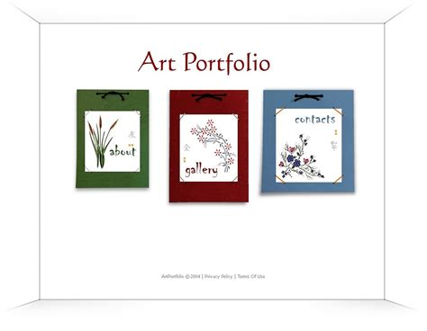artist portfolio flash template web design templates