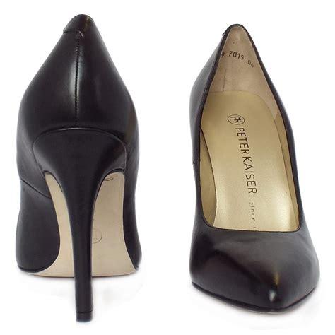 black and high heel shoes kaiser indigo black leather high heel shoes