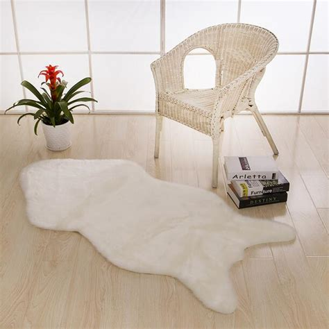 Bedroom Chair Covers Carpet Sheepskin Chair Cover Bedroom Faux Mat Seat