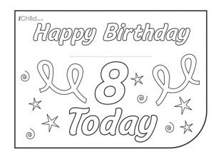 printable birthday cards 8 year old boy birthday card design template for 8 year old 8th birthday