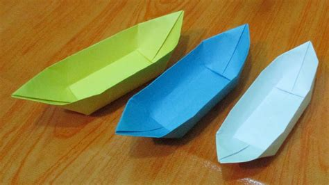 folding paper to make boat origami how to make easy paper boat origami diy