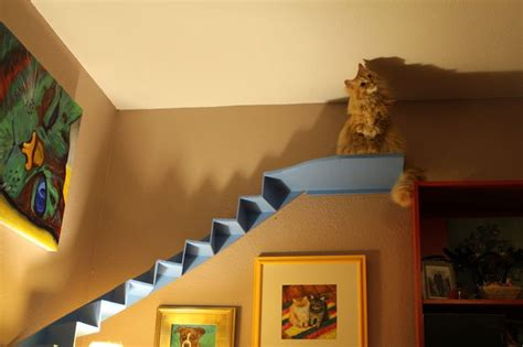 The Living Room Or Not Cat Curved Cat Stairs For Your Living Room