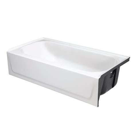 bathtub drain home depot bootz industries bootzcast 5 ft right drain soaking tub