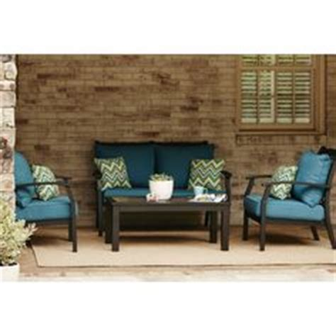 shop allen roth carrinbridge set garden treasures set of 2 cascade creek black steel patio