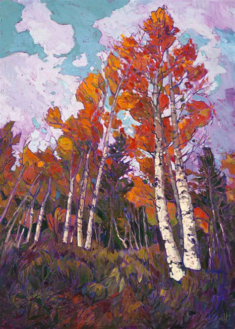 art in the parks modern hiker energetic landscape paintings portray artist erin hanson s