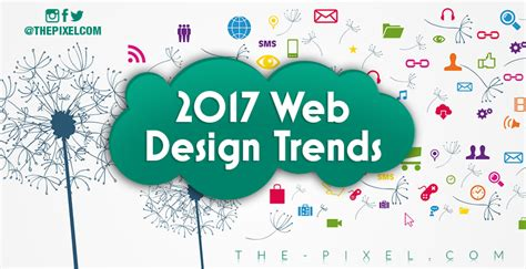2017 web design trends thepixel website design development social media more