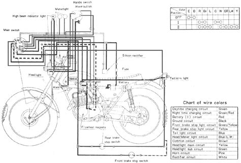 wiring diagram yamaha ct1 175 enduro motorcycle 61464