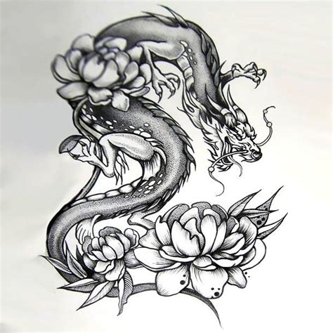 tattoo sketch dragon japanese dragon tattoos on pinterest japanese dragon