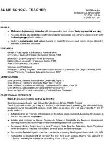 high school student resume objective exles