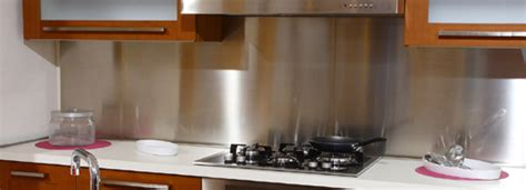 kitchen design idea install a stainless steel backsplash stainless backsplashes from quickshipmetals com