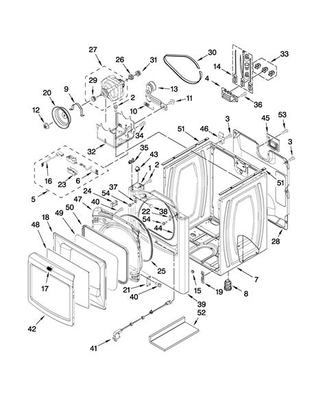 maytag dryer parts diagram cabinet parts diagram parts list for model medb850wq0