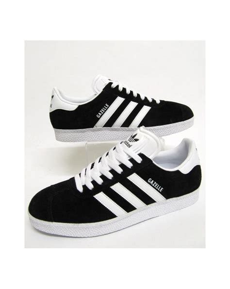 adidas gazelle black adidas gazelle 2 trainers black white originals mens