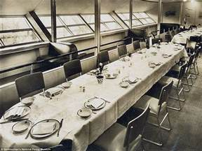 photos of the hindenburg s lounge and dining quarters
