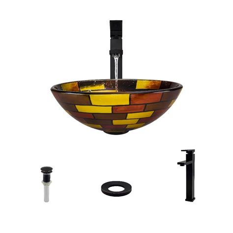 mr direct vessel sinks mr direct glass vessel sink in stained glass with 721