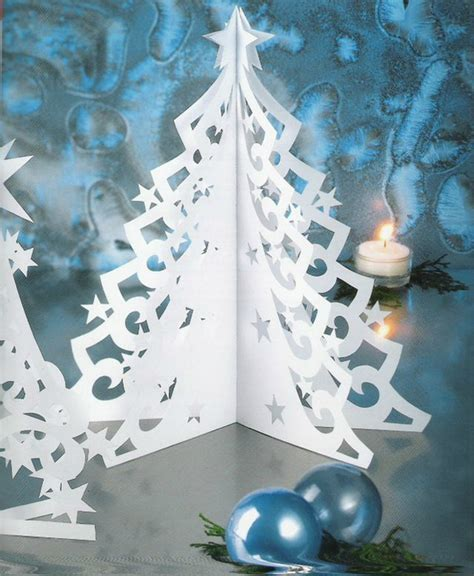 kirigami christmas tree christmas ornaments
