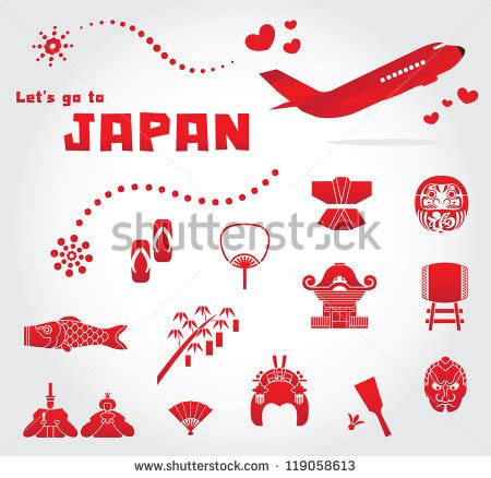 Travel Find Pretty And Protected by Japan Travel Set Ilustraci 243 N Vectorial En Stock