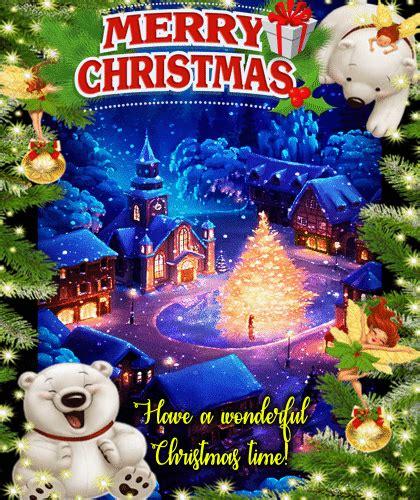 wonderful christmas ecard  merry christmas wishes