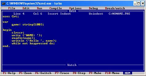 tutorial turbo c bahasa indonesia turbo pascal versi 7 0 tutorial crasher team