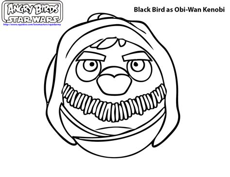 angry birds anakin coloring page free coloring pages of angry birds anakin