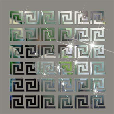 pattern mirror wall stickers aliexpress com buy 10 pcs home decor puzzle labyrinth