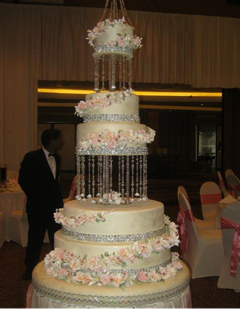 5 Tier Crystal Wedding Cake Structure   Sri Lanka Online