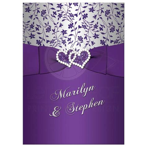 Wedding Anniversary Invitations by 25th Wedding Anniversary Invitation Purple Silver