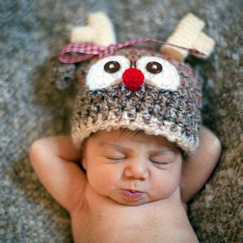 baby reindeer hat lil baby reindeer hat beanie for boy or from lilwhimsiesforbaby