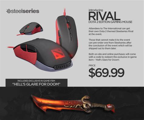 Mouse Steelseries Rival Dota 2 wykrhm reddy on quot steelseries rival dota 2 themed mouse available at ti4 and